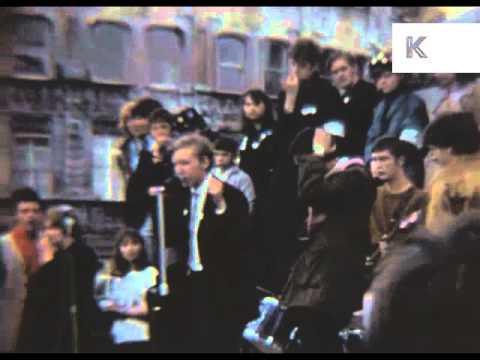 1968 Free Radio Association Rally, London, Rare Home Movie Footage