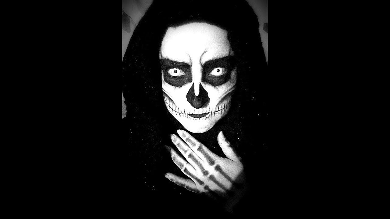 tutoriel makeup sp cial halloween halloween skull. Black Bedroom Furniture Sets. Home Design Ideas