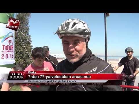7-dən 77-yə velosükan arxasında: Həvəskar velosipedçilər güclərini sınadı