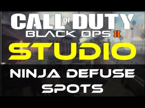 Black Ops 2 - Studio Ninja Defuse Spots / Tutorial (Uprising Map Pack) by Product Shard