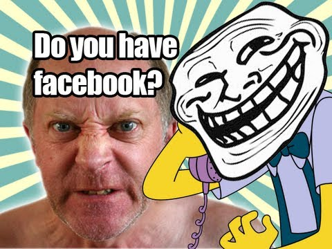 Old Man Vs Library - Prank Call - Do You Have A Facebook? video