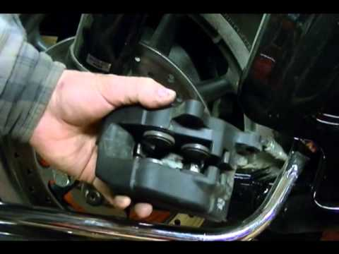 Best Brake Pads >> Motorcycle Brake Repair: Checking Rear Brake Pad Wear on a 2008 Harley Davidson Road Glide - YouTube