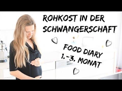 FOOD DIARY: ROHKOST IN DER SCHWANGERSCHAFT 1.-3. MONAT