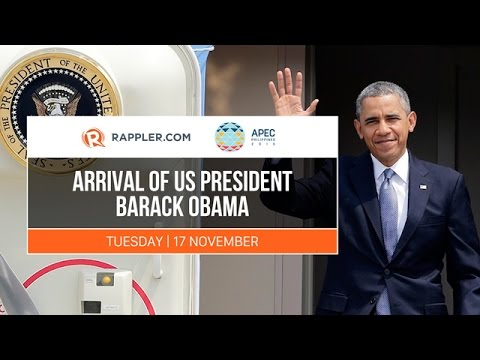 APEC 2015: Arrival of US President Barack Obama