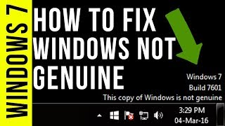How to Fix Windows is Not Genuine | Remove Build 7601/7600 | 100% Working Windows 7/8/10 | 2019