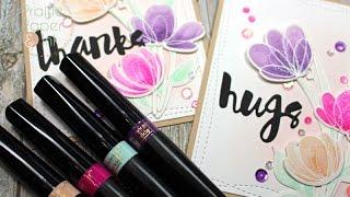 SSS Spring Floral Shapes Dies | Spectrum Noir Sparkle Pen Watercolor