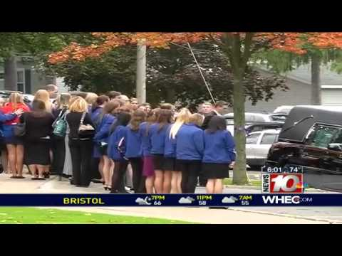 Family and friends say goodbye to Brockport freshman, Alexandra Kogut