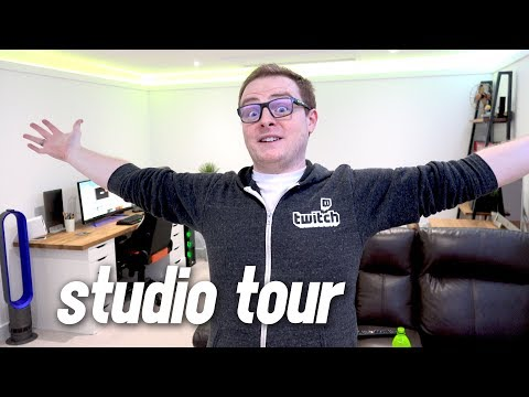 The ULTIMATE Gamer's Studio 1.0! (New Build Office Tour 2017)