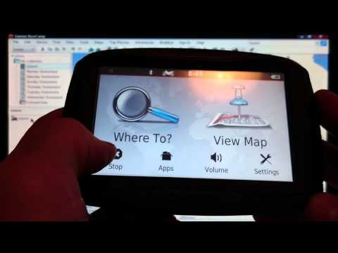 Video 4 Transferring routes garmin basecamp