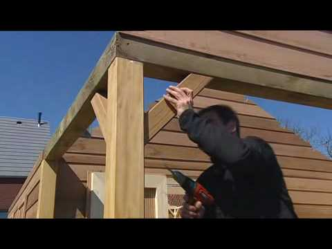 Bouwtekening overkapping schuin dak