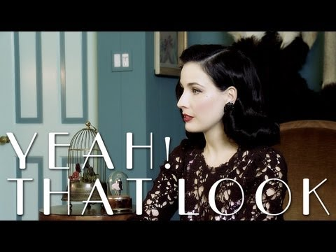 Visiting with Dita Von Teese [Yeah! That Look]