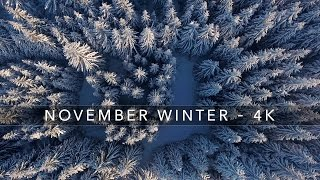 NOVEMBER WINTER 4K | DJI Phantom 4 Drone | Thüringer Wald 2016