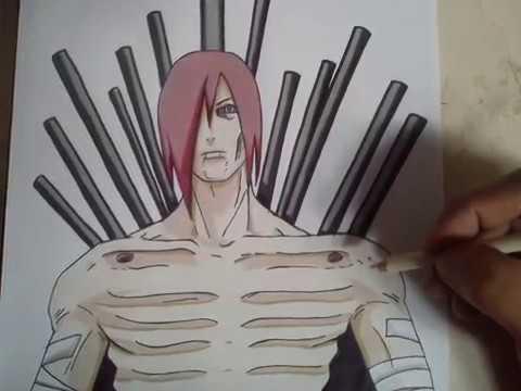 COMO DIBUJAR A NAGATO - NARUTO / how to draw nagato - naruto