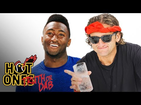 Marques Brownlee and Casey Neistat Play Truth or Dab | Hot Ones