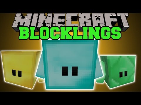 Minecraft: BLOCKLINGS (BLOCKS THAT GROW BIGGER AND STRONGER!) Mod Showcase