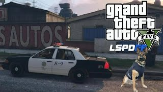 GTA 5 PC MODS - LSPDFR - POLICE SIMULATOR - EP 10 (NO COMMENTARY) K9
