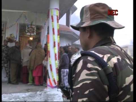 Voting in Indian Jammu and Kashmir begins amidst chilling winter