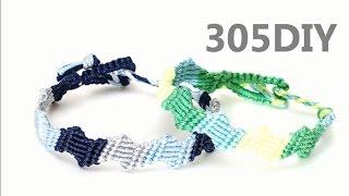 [305DIY]삼색 지그재그 팔찌만들기,easy 3color zigzag  friendship bracelet DIY tutorial