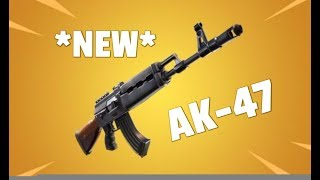 *NEW* AK 47 HEAVY ASSAULT RIFLE GAMEPLAY IN FORTNITE BATTLE ROYALE!!