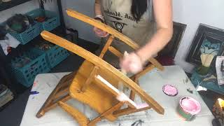 Junk Monkey Paint |  How To Paint A Rocking Chair! Shabby & Sweet Style Of Course!