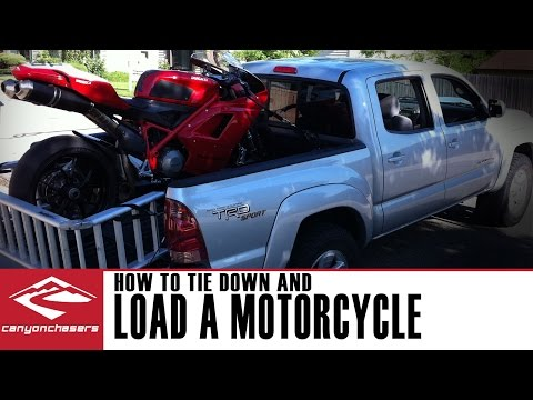 How to Load and Tie Down a Motorcycle in a Truck or a Trailer