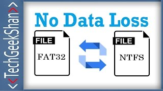 Convert FAT32 to NTFS | Without Data Loss