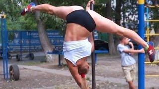 Beautiful strong girl - Female street workout motivation.