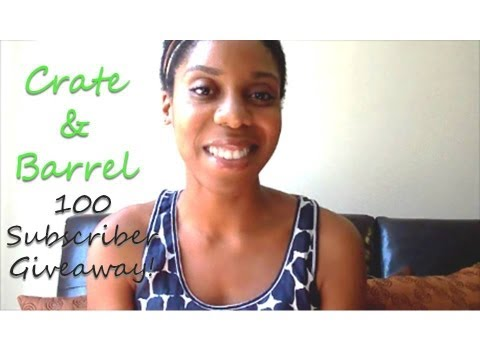 Crate and Barrel Giveaway Contest!