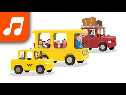 Детские песенки: Песенка про транспорт - машинки, автобусы, поезда.