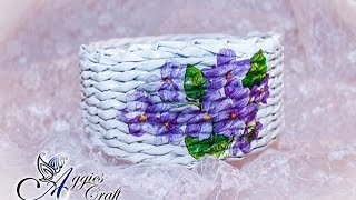 Wicker paper tutorial - basket with flowers