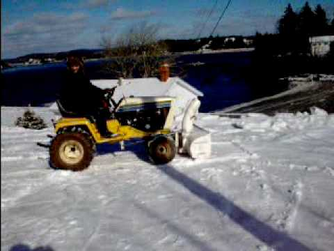 Cub Cadet Tractor 20hp showing the snowblower in action and it is for sale :)