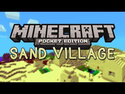SAND VILLAGE SEED with Triple Village! - Minecraft Pocket Edition Seed 0.10.4