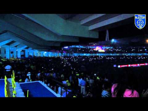 Jawaharlal Nehru Stadium Kochi lit up by mobile phones vs FC Goa | Kerala Blasters