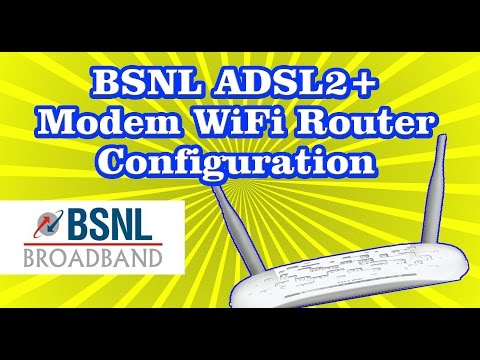 BSNL Broadband TPLINK ADSL2+ wifi Modem Router configuration settings