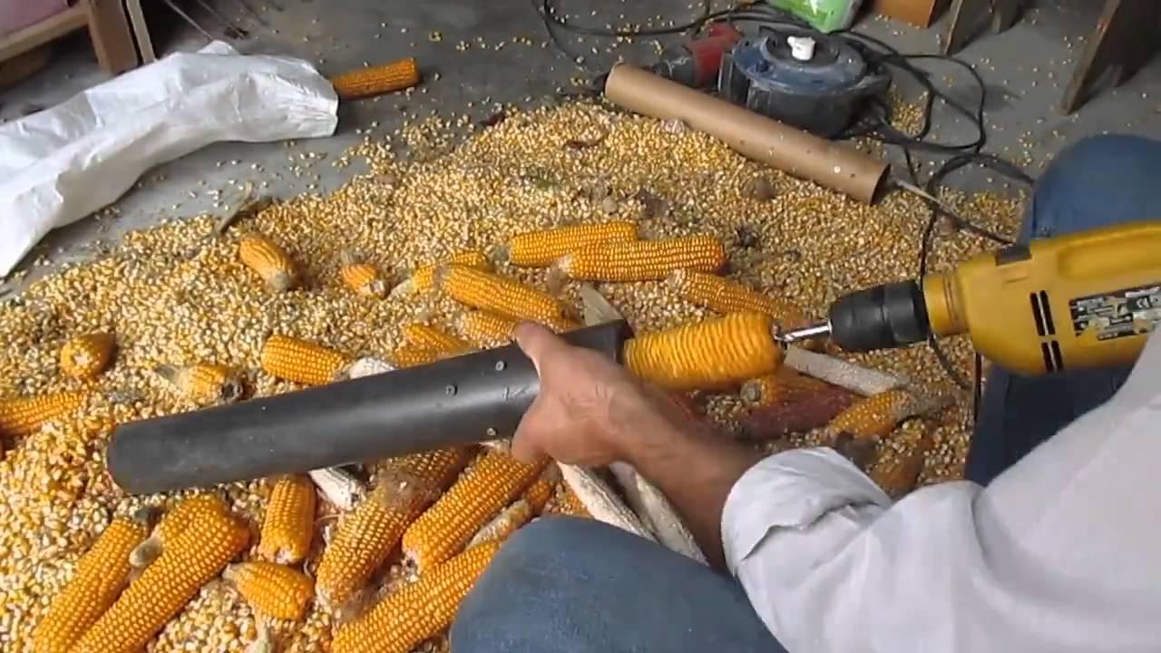Как очистить кукурузу от зерен в домашних условиях вручную