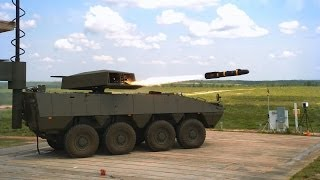 Lockheed Martin DAGR & HELLFIRE missiles tests from Patria AMV