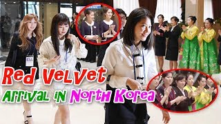 Red Velvet applauded by North Korean Staff when they arrived at Koryo Hotel Pyongyang | 레드벨벳 평양 고려호텔