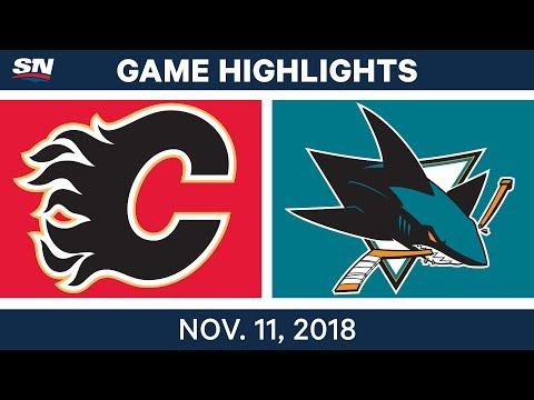 NHL Highlights | Flames vs. Sharks – Nov. 11, 2018
