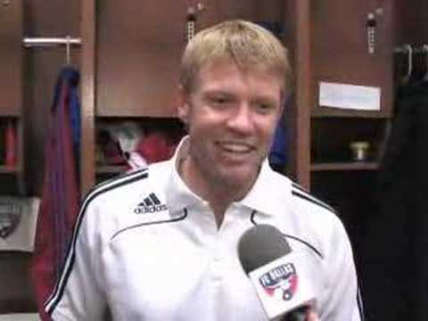 FC Dallas defender Bobby Rhine made his broadcast debut on KFWD 52.