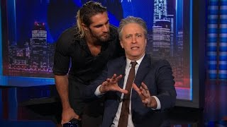 Seth Rollins crashes 'The Daily Show with Jon Stewart""