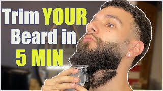 How to PROPERLY Trim YOUR beard...Like a Barber -jjaybeardedbarber