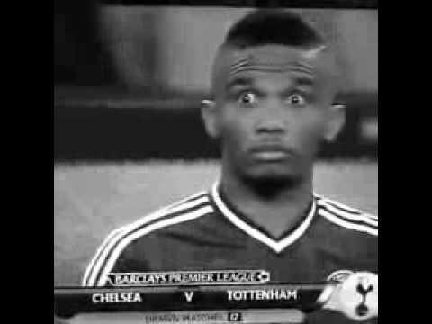 Samuel Eto'o - Funny moment Before the match vs Tottenham
