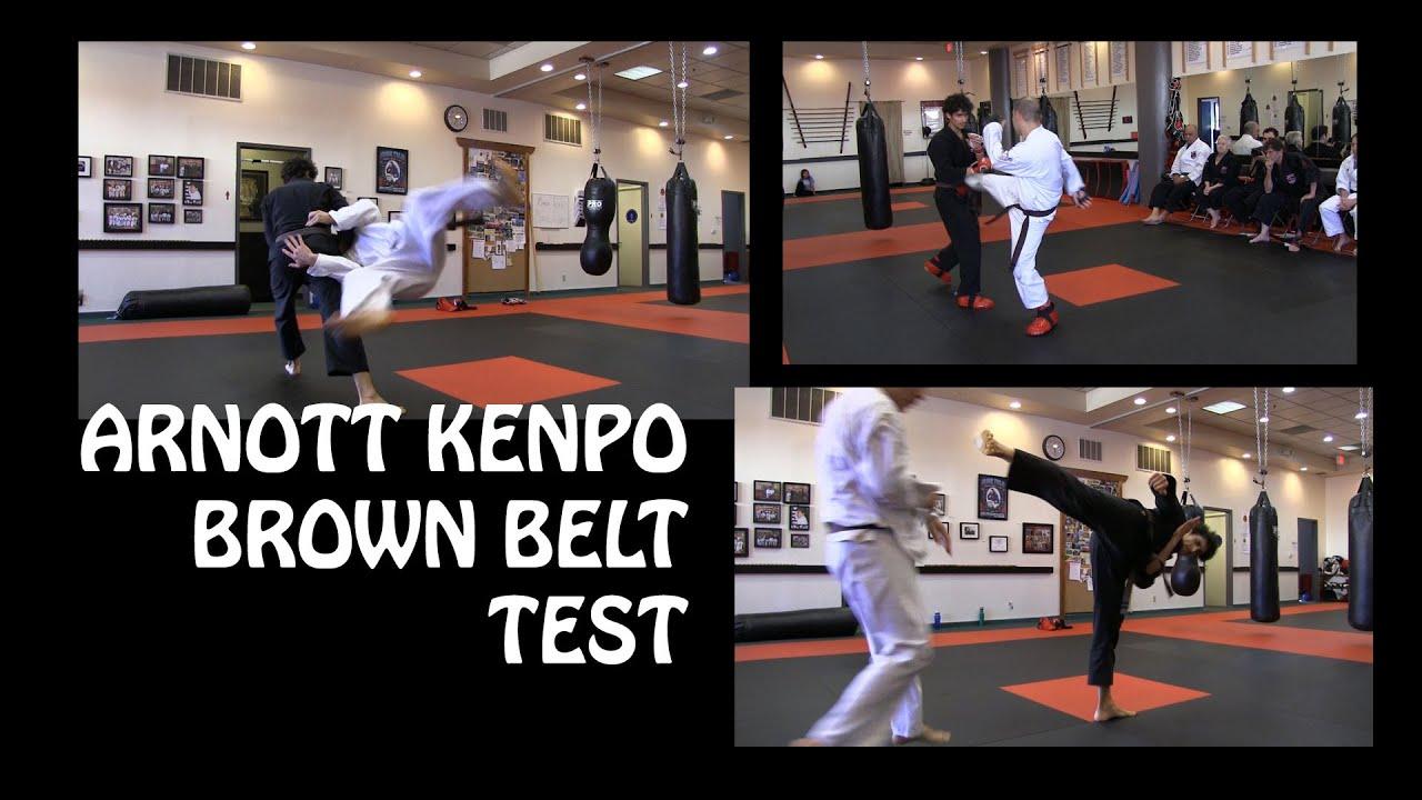 exploring martial arts arnott kenpo brown belt test
