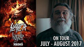 SLAYER - On Tour: July - August 2017 w/ Lamb of God, Behemoth