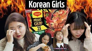Korean girls try Pedas Giler 2X l KPOP Quiz l Blimey