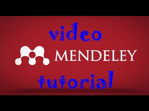 vídeo tutorial de como usar mendeley