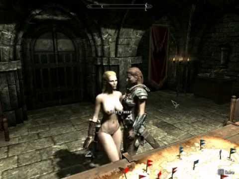 TES V Skyrim. Лесбиянки. Приключения голой женщины в скайриме, часть 1