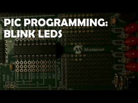 PIC Blink LEDs Using The Delay Function (HI-TECH C)