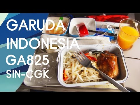 Garuda Indonesia GA825 : Flying from Singapore to Jakarta