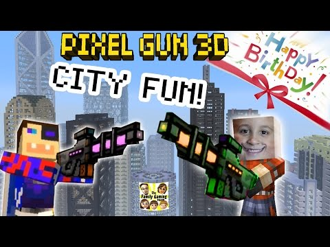 Dad & Son Play Pixel Gun 3d: Fun In The City!  + Happy Birthday Teevers! (pt. 16) video